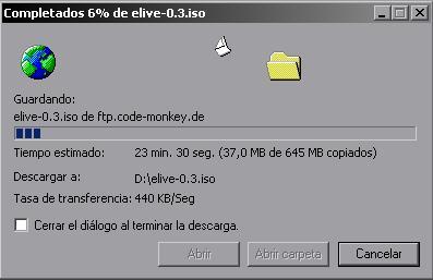 Descargando eLive